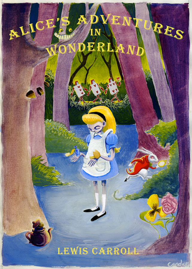 Book cover of Alice in Wonderland written by Lewis Carroll