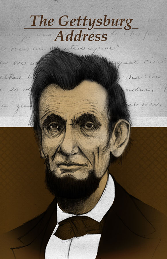 Book cover of The Gettysburg address written by Abraham Lincoln