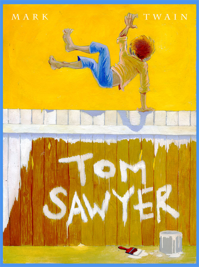 Book cover of Tom Sawyer written by Mark Twain