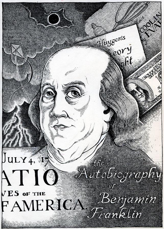 Book cover of Autobiography of Benjamin Franklin by Benjamin Franklin